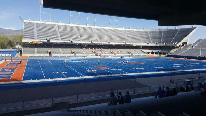 Seating view for Albertsons Stadium Section 11 Row T Seat 5