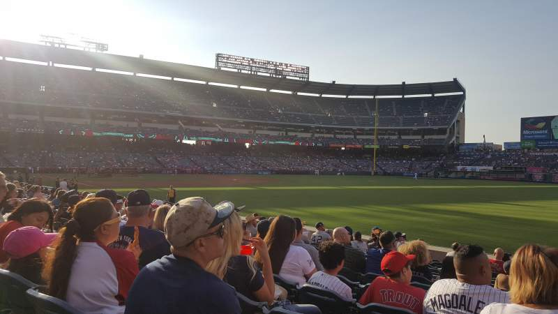 Angel Stadium, section: F131, row: M, seat: 14