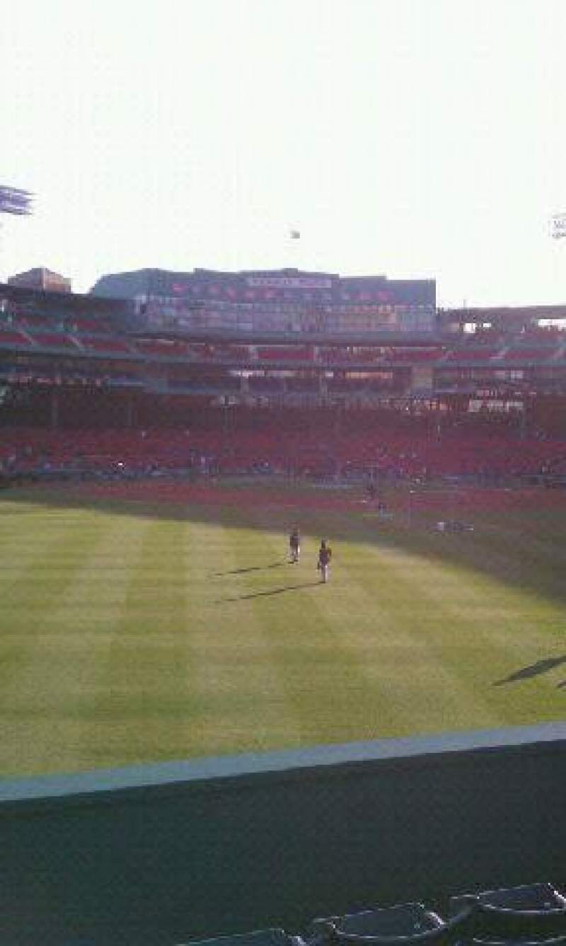 Seating view for Fenway Park Section Bleacher 36 Row 5 Seat 18