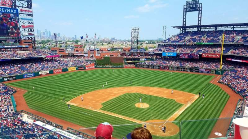 Seating view for Citizens Bank Park Section 322 Row 3 Seat 13