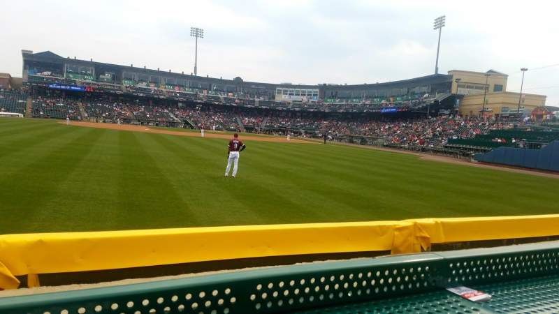 Seating view for Coca-Cola Park Section Pig Pen 3 Row A Seat 11
