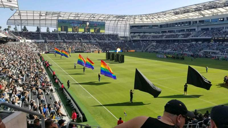 Seating view for Banc of California Stadium Section 107 Row R Seat 21