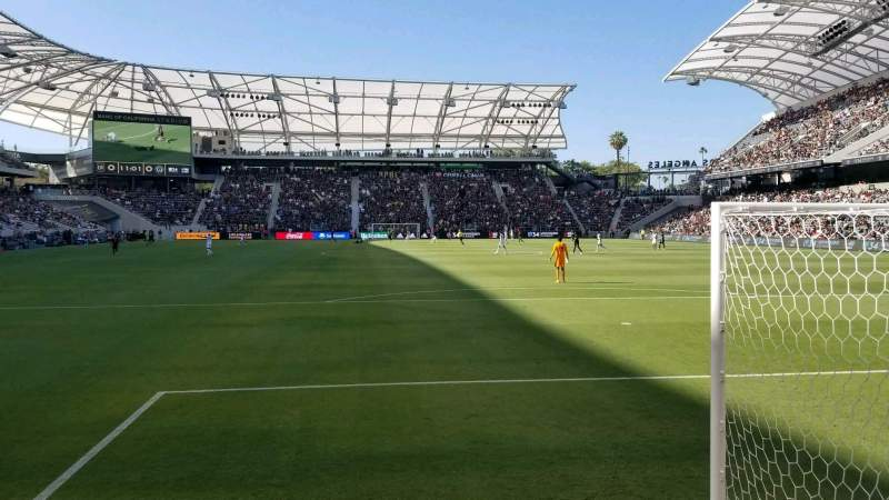 Seating view for Banc of California Stadium Section 122 Row A Seat 24