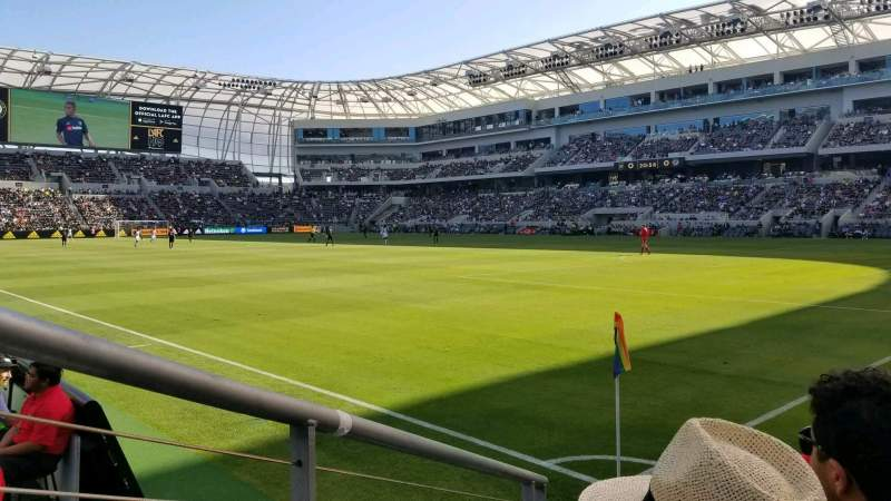 Seating view for Banc of California Stadium Section 108 Row C Seat 4