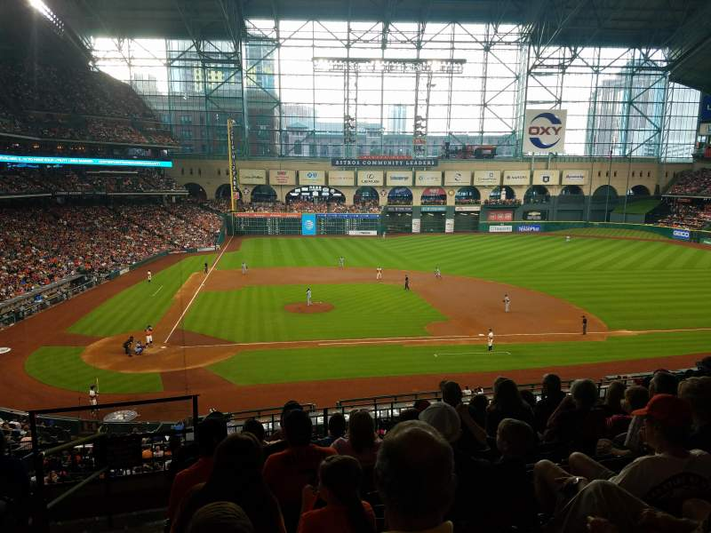 Seating view for Minute Maid Park Section 224 Row 7 Seat 1