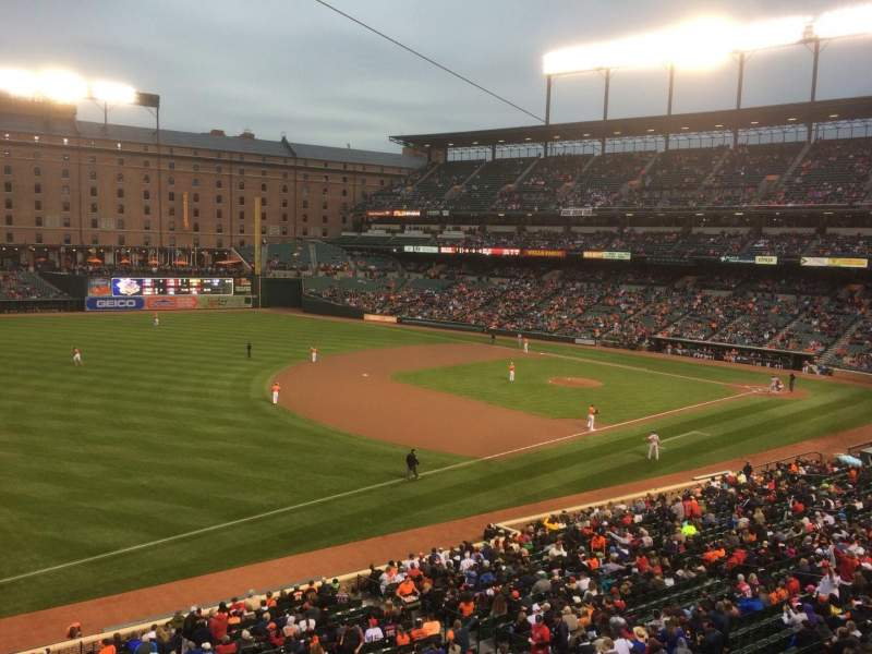 Seating view for Oriole Park at Camden Yards Section 260 Row 1 Seat 1