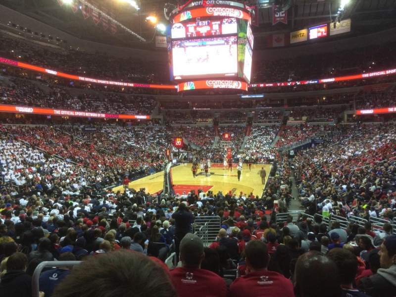 Seating view for Capital One Arena Section 118 Row R Seat 1