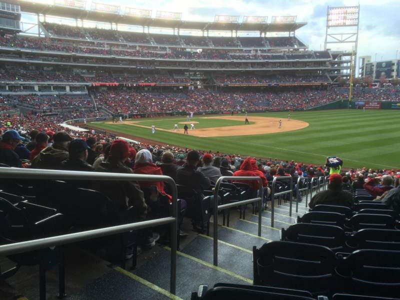 Seating view for Nationals Park Section 134 Row MM Seat 28