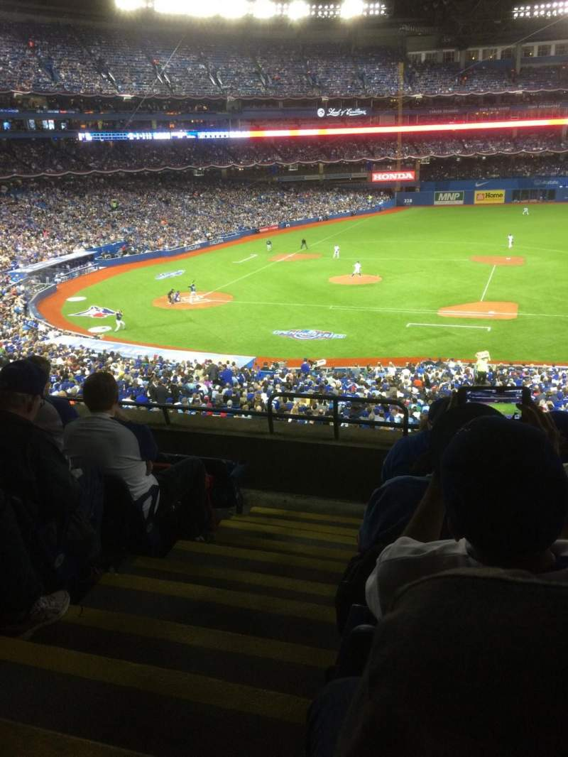 Seating view for Rogers Centre Section 218R Row 7 Seat 1