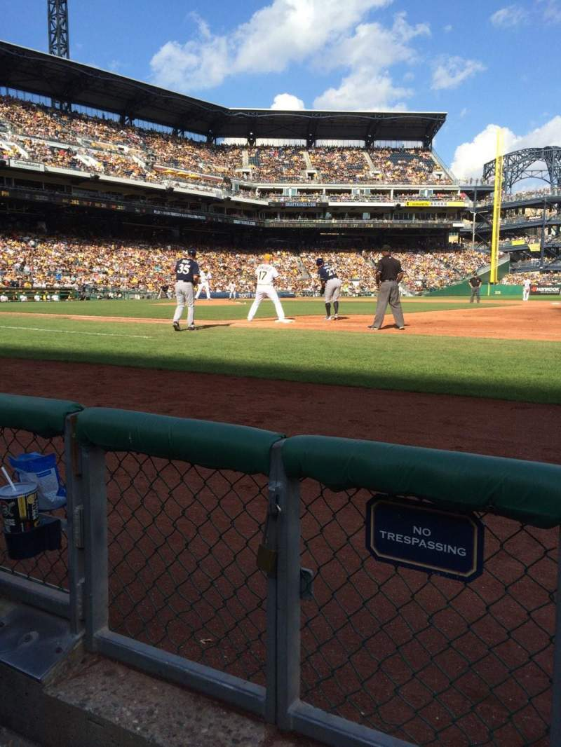 Seating view for PNC Park Section 8 Row B Seat 12