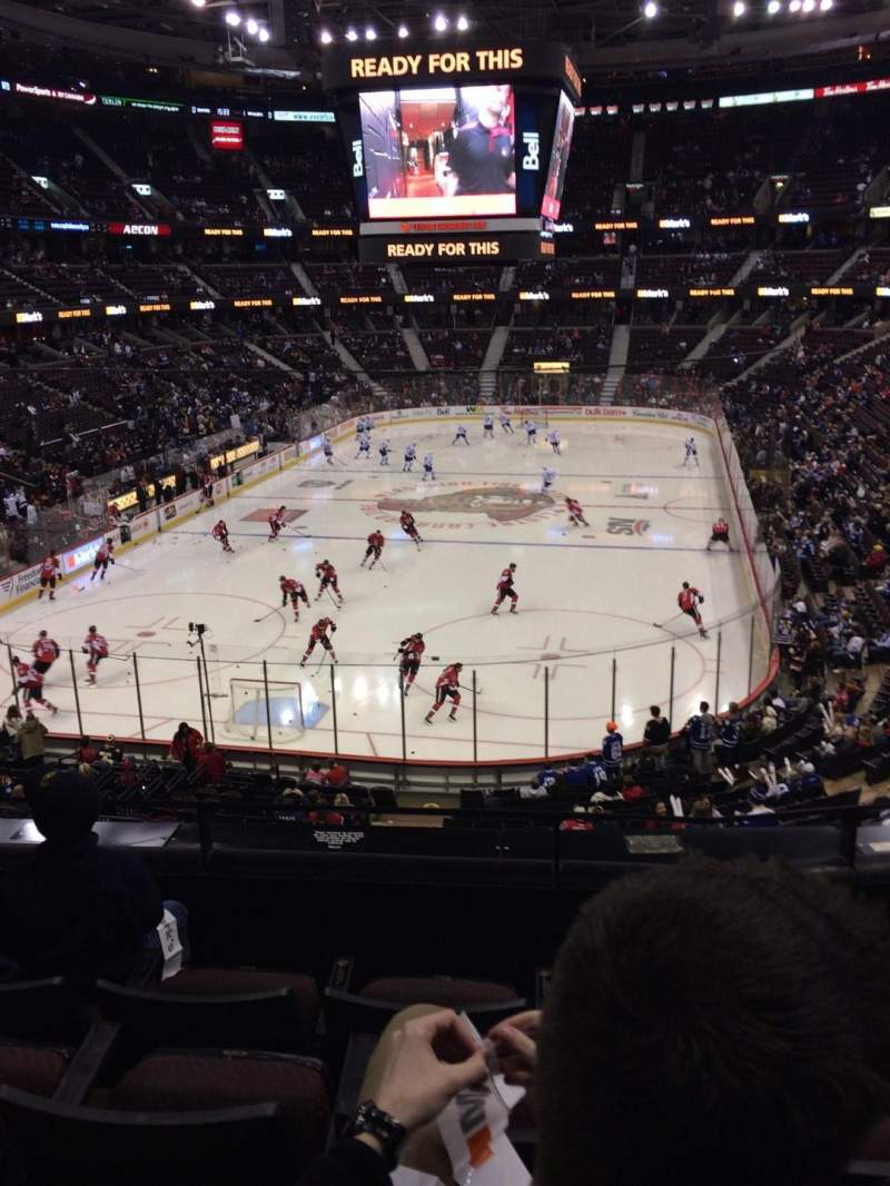 Seating view for Canadian Tire Centre Section 228 Row D Seat 12
