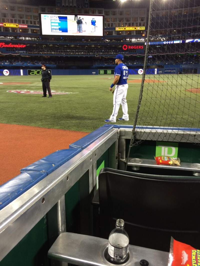 Seating view for Rogers Centre Section 123L Row 2 Seat 108