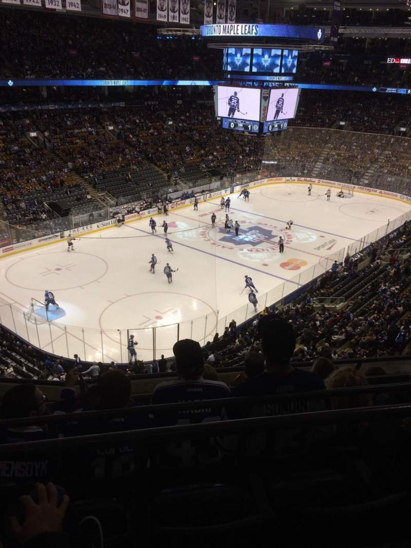 Seating view for Air Canada Centre Section 312 Row 5 Seat 21