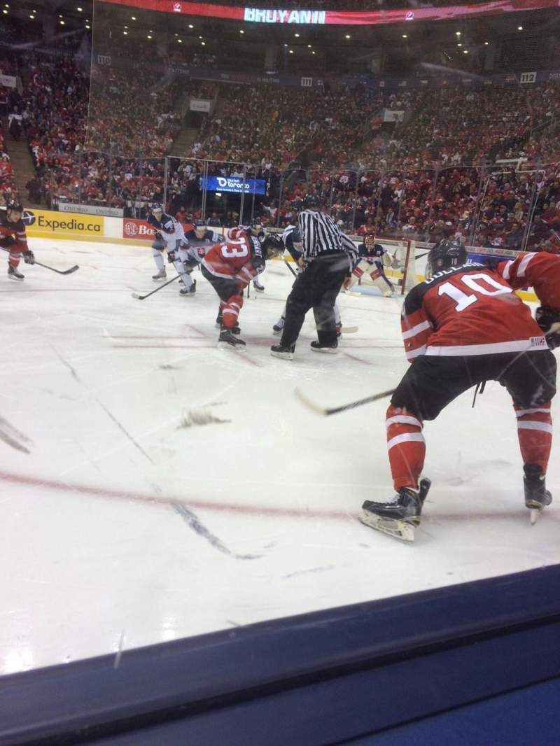 Seating view for Air Canada Centre Section 118 Row 1 Seat 5