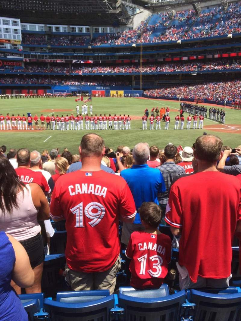 Seating view for Rogers Centre Section 125L Row 21