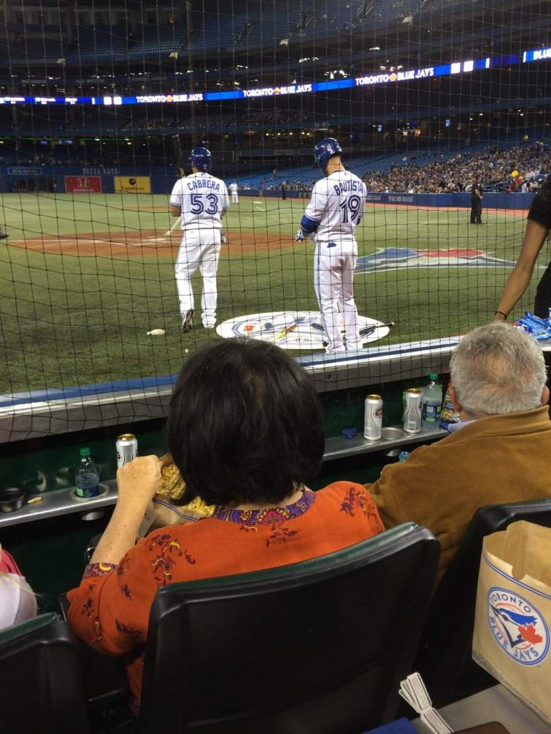 Seating view for Rogers Centre Section 123L Row 2 Seat 107