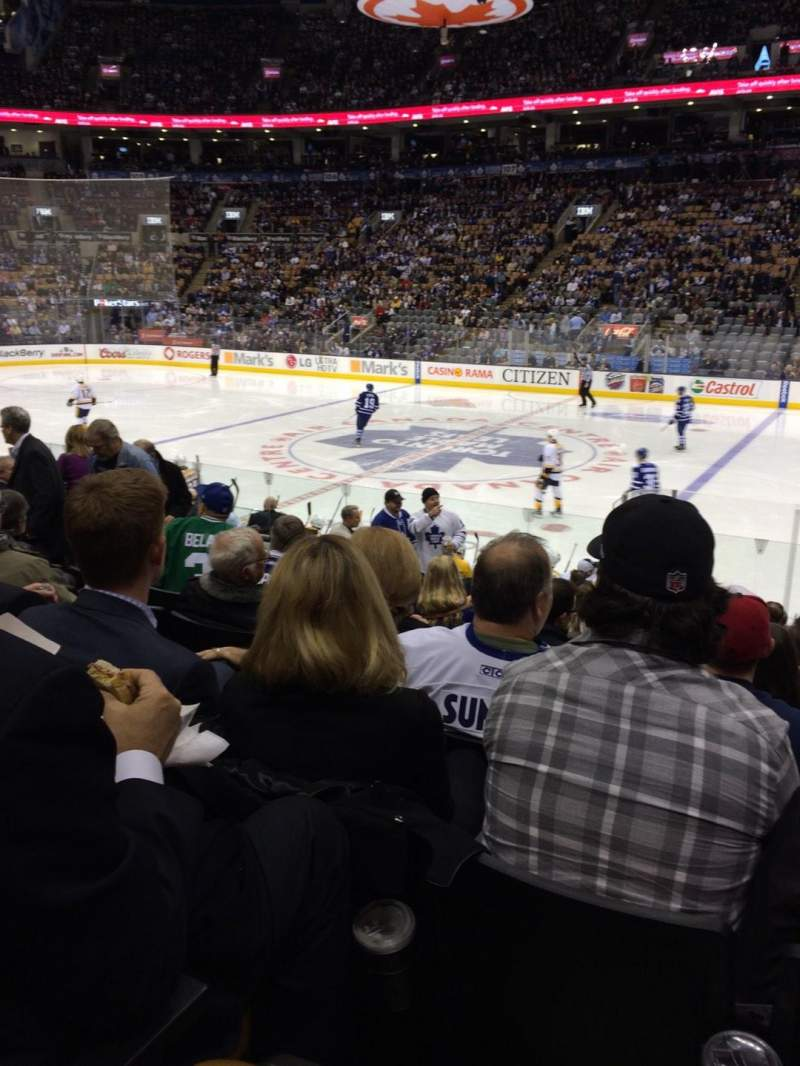 Seating view for Air Canada Centre Section 118 Row 14 Seat 16
