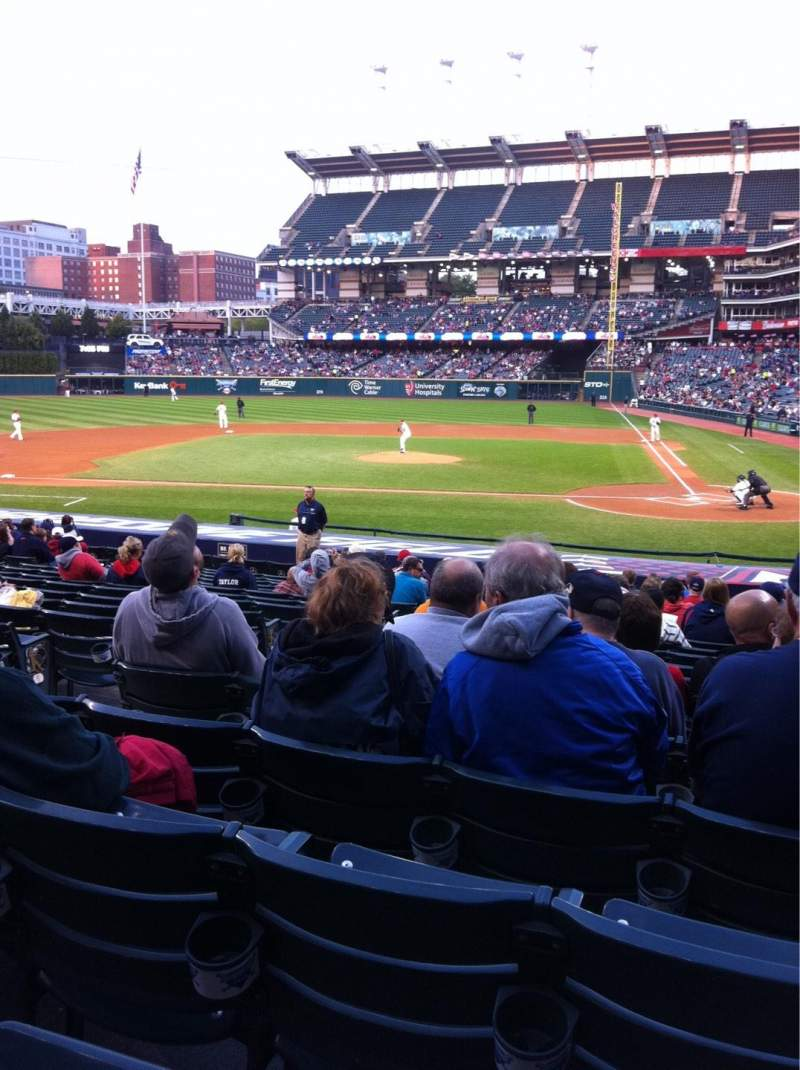 Seating view for Progressive Field Section 162
