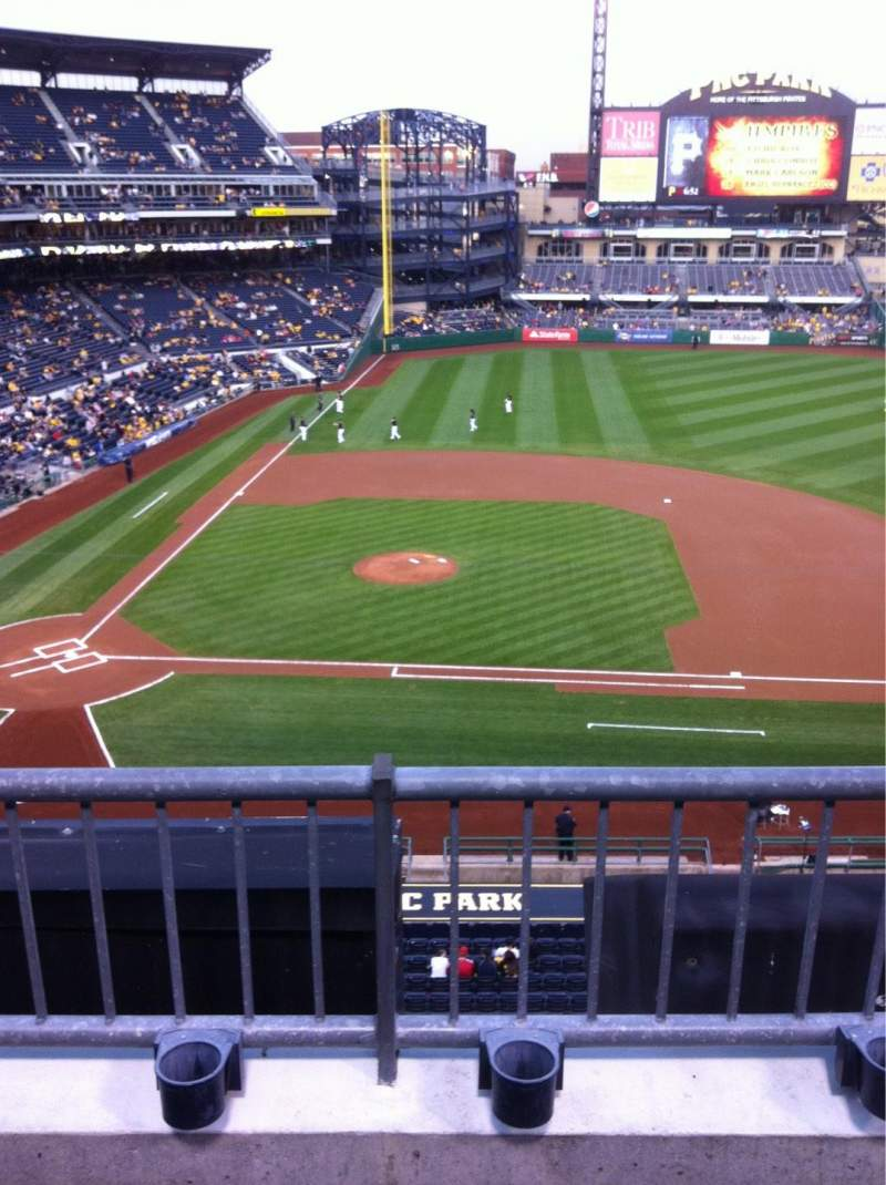 Seating view for PNC Park Section 211 Row 1