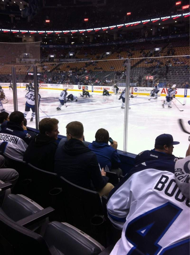 Seating view for Air Canada Centre Section 118 Row 4 Seat 1