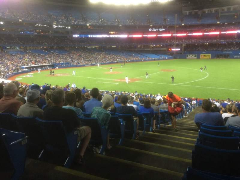 Seating view for Rogers Centre Section 114R Row 37 Seat 1