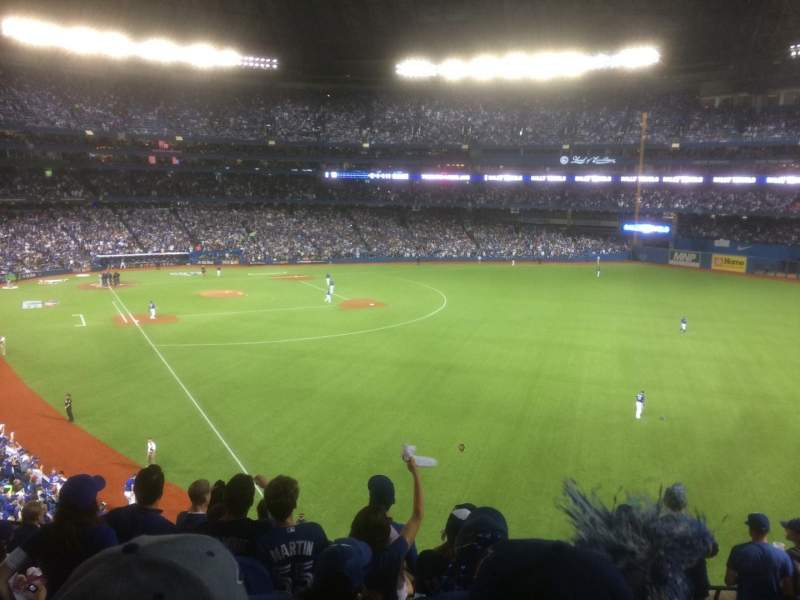 Seating view for Rogers Centre Section 210L Row 9 Seat 101