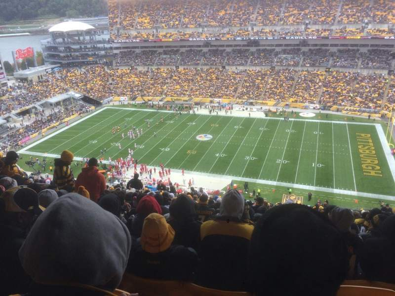 Seating view for Heinz Field Section 513 Row FF Seat 12