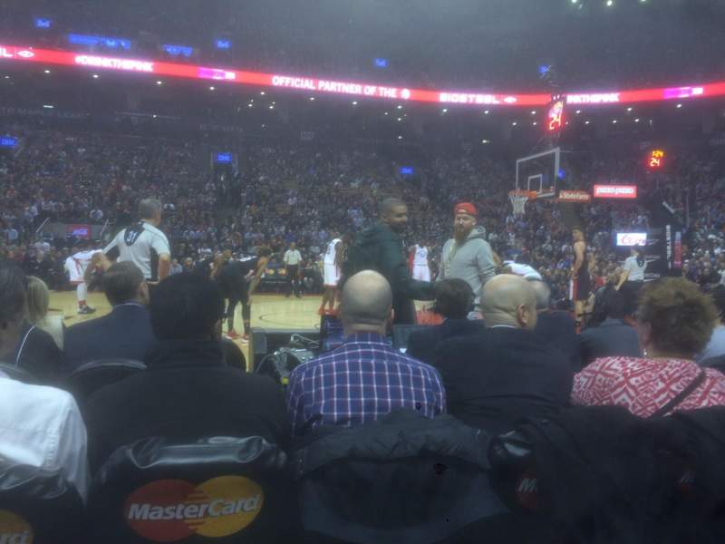 Seating view for Air Canada Centre Section 119 Row 1 Seat 2