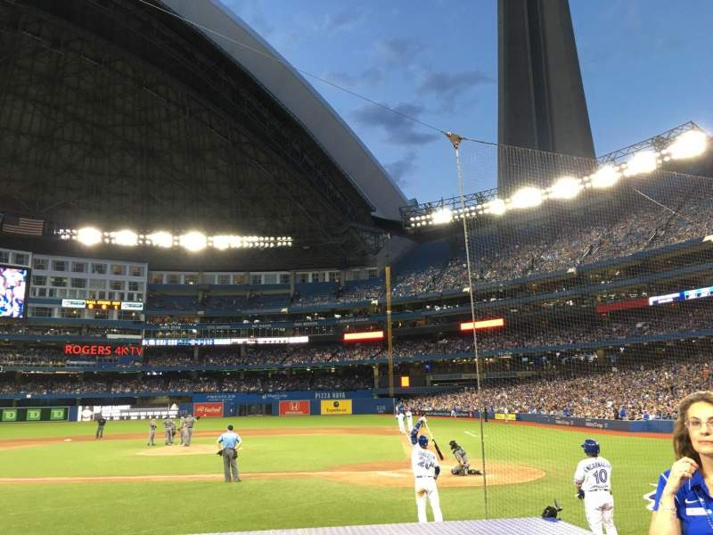 Seating view for Rogers Centre Section 124L Row 9 Seat 103