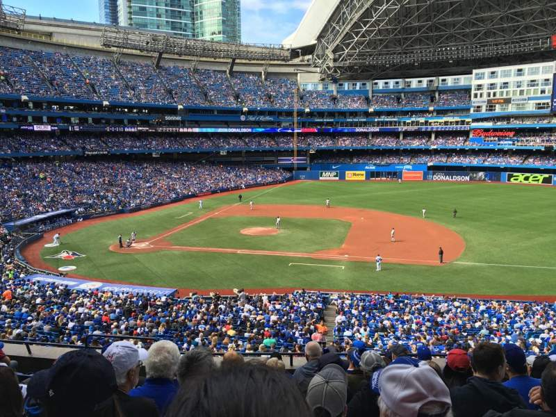 Seating view for Rogers Centre Section 218R Row 9 Seat 5