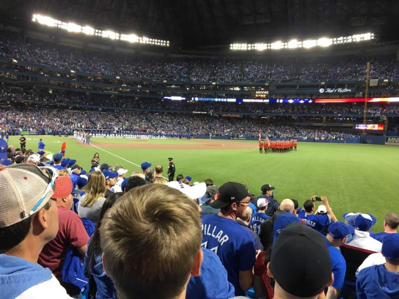 Seating view for Rogers Centre Section 113DL Row 10 Seat 1