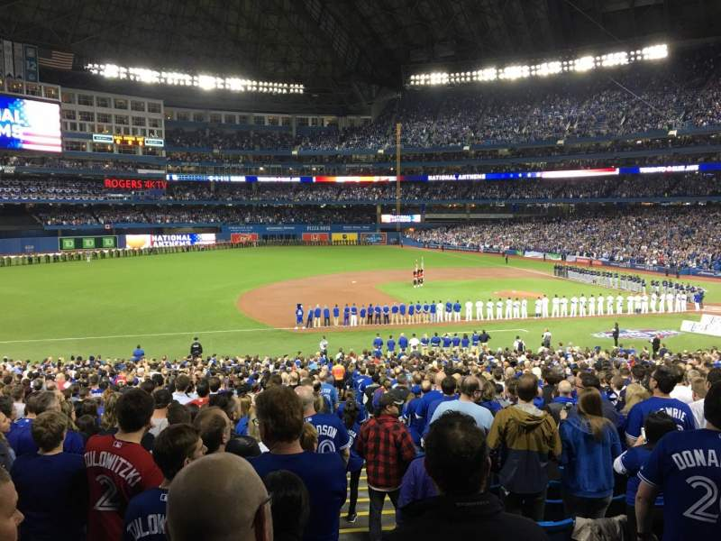 Seating view for Rogers Centre Section 128L Row 40 Seat 101