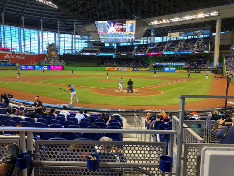 Seating view for Marlins Park Section 16 Row B Seat 1