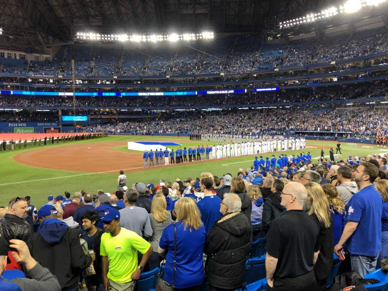 Seating view for Rogers Centre Section 129L Row 17 Seat 101