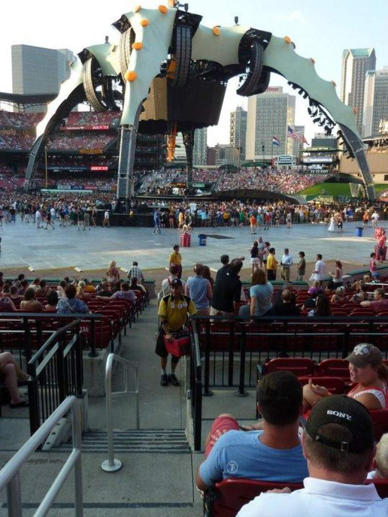 Seating view for Busch Stadium Section 135C Row 5 Seat 1-2