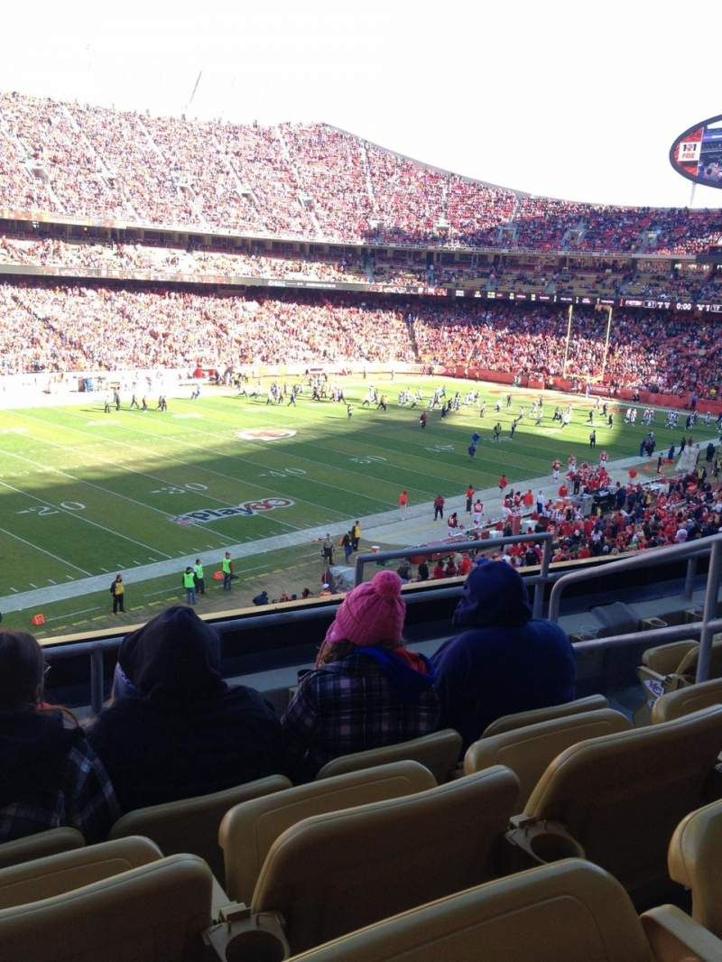 Seating view for Arrowhead Stadium Section 229 Row 4 Seat 5