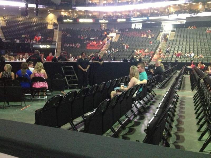 Seating view for Sprint Center Section 106 Row 1 Seat 18