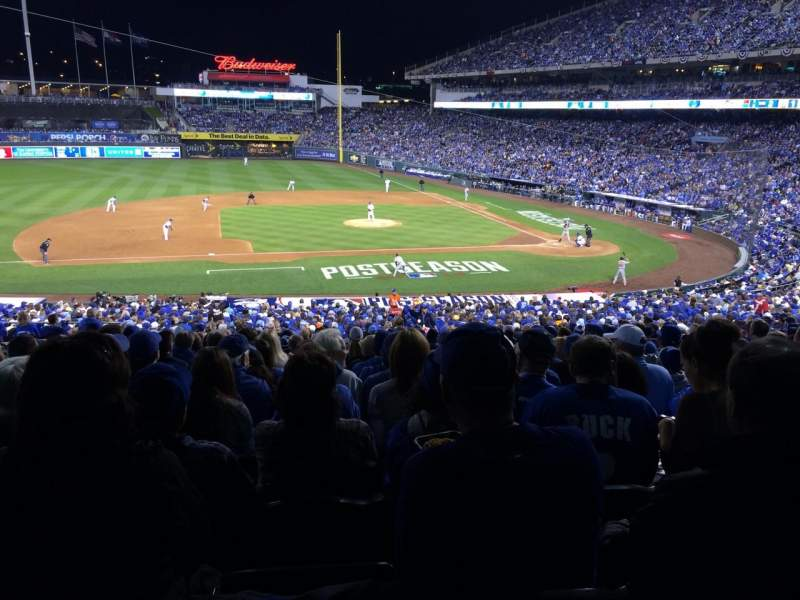 Seating view for Kauffman Stadium Section 221 Row PP Seat 8