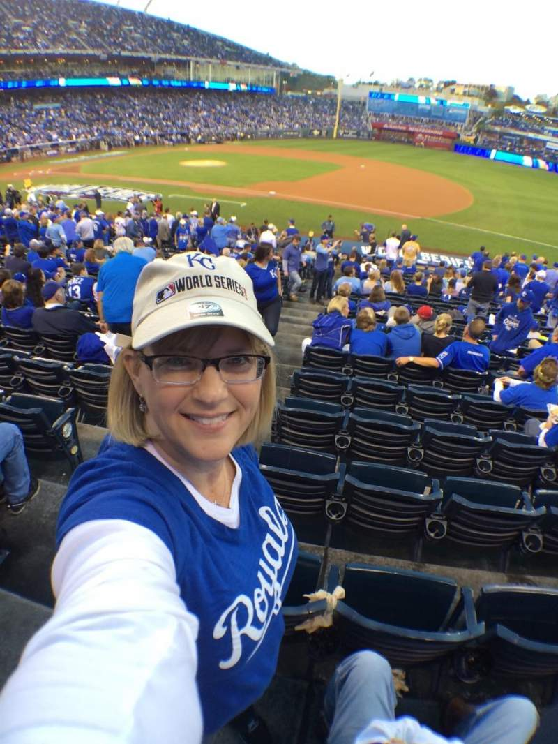 Seating view for Kauffman Stadium Section 138 Row W Seat 1