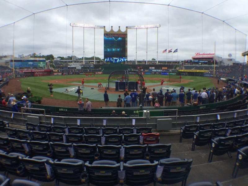 Seating view for Kauffman Stadium Section 127 Row G Seat 8