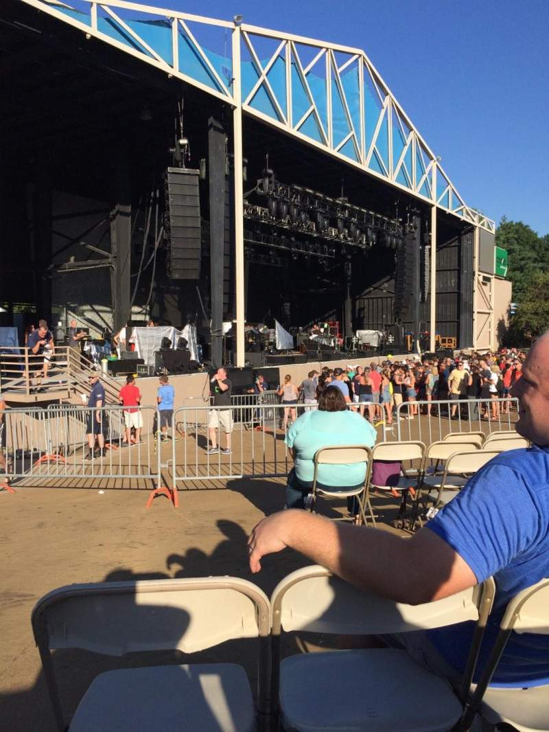 Seating view for Providence Medical Center Amphitheater Section 5 Row V Seat 30