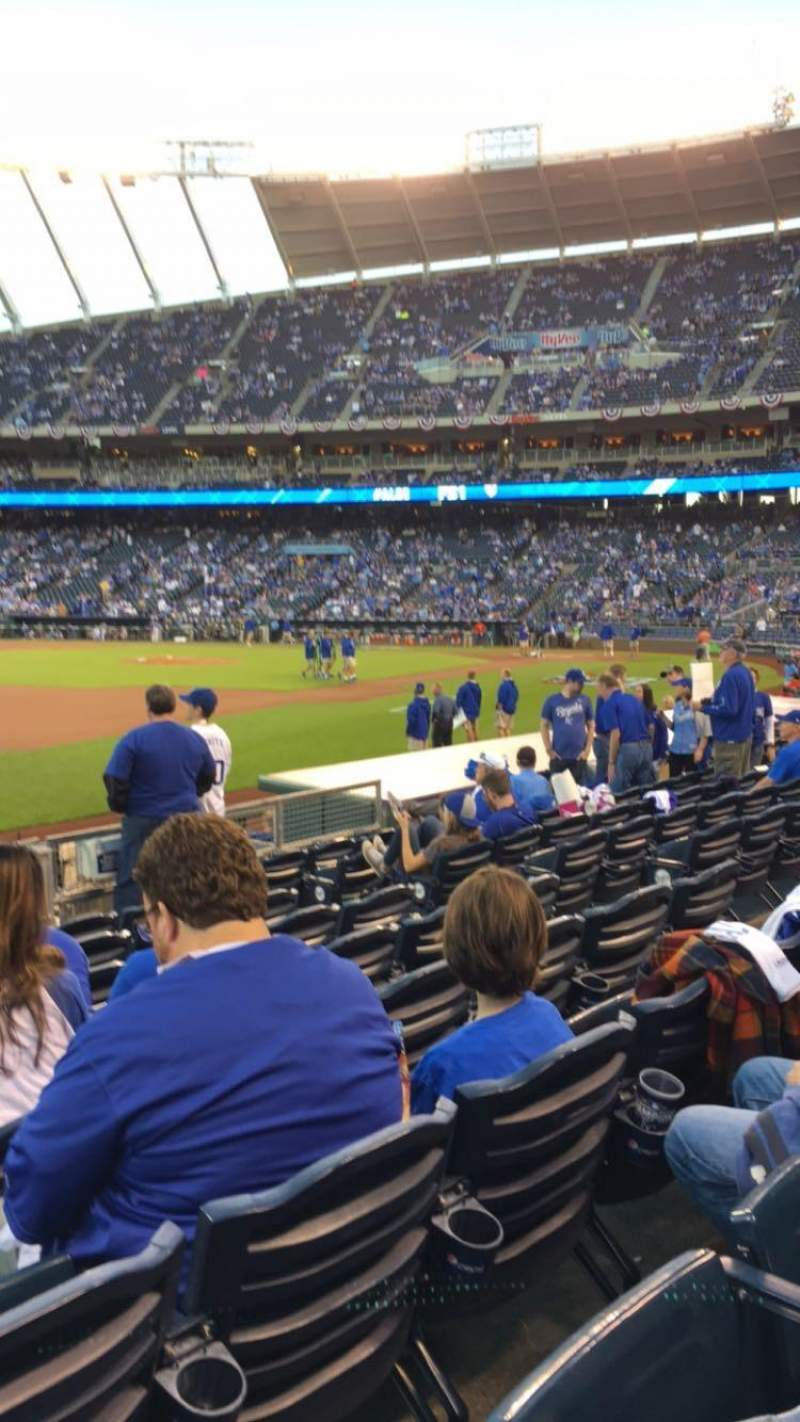 Seating view for Kauffman Stadium Section 115 Row J Seat 1