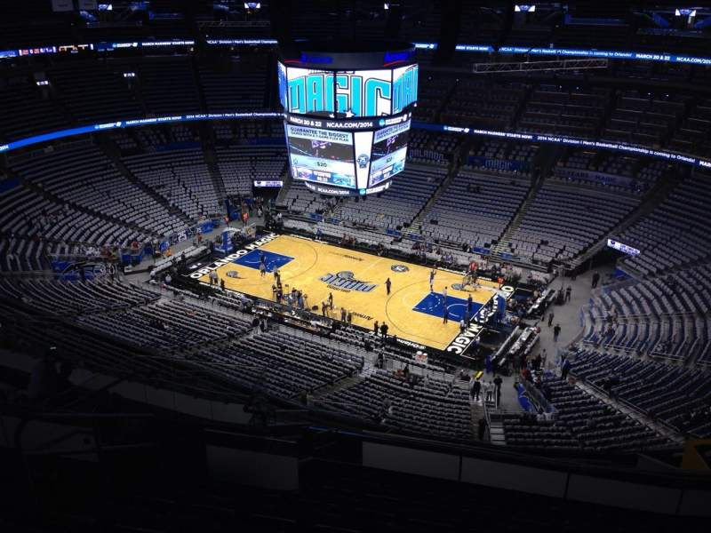 Seating view for Amway Center Section 206 Row 15 Seat 19