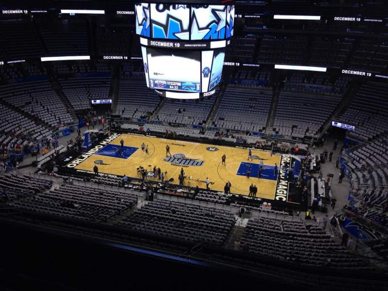 Seating view for Amway Center Section 208 Row 5 Seat 1