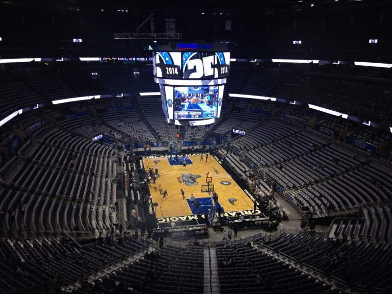 Seating view for Amway Center Section 202 Row 5 Seat 12