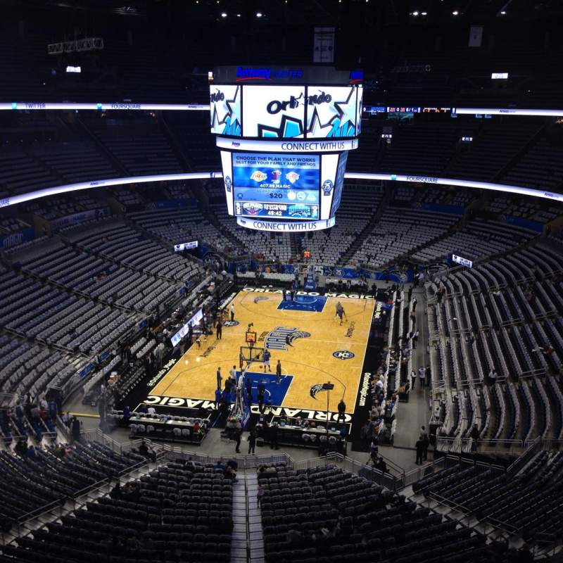 Seating view for Amway Center Section 232 Row 3 Seat 10