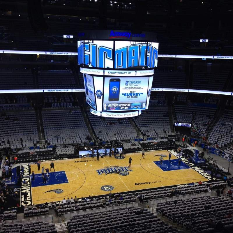 Seating view for Amway Center Section 226 Row 2 Seat 16