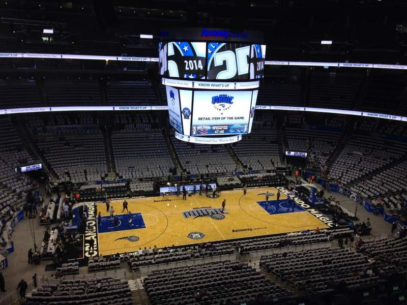 Seating view for Amway Center Section 223 Row 5 Seat 20