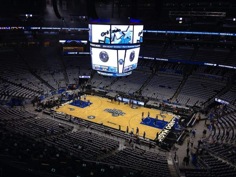 Seating view for Amway Center Section 211 Row 3 Seat 1