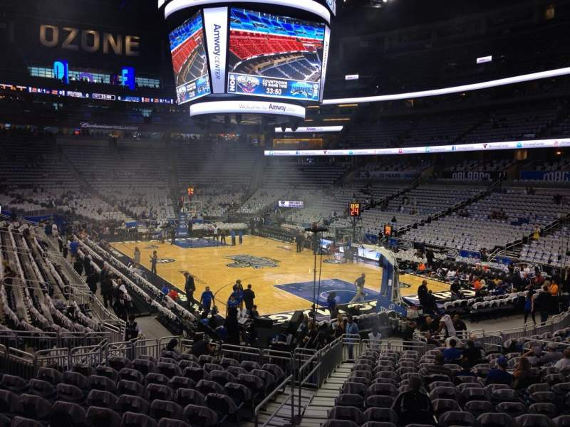 Seating view for Amway Center Section 111 Row 18 Seat 22